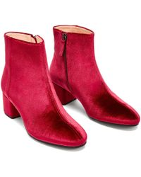 NINE TO FIVE - Ankle Boot Strand Red Velvet - Lyst