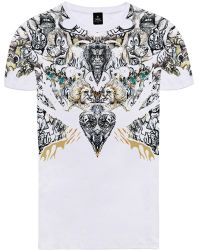 Raddar7 - Youth Rock Gothic Print White T-shirt - Lyst