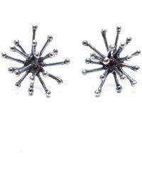 Mikinora - Jacks Earrings Silver - Lyst