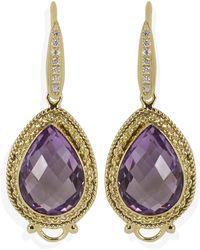 Vintouch Italy - Minerva Amethyst Drop Earrings - Lyst