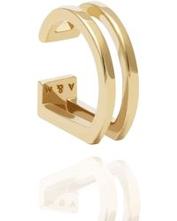 Astrid & Miyu - The Simple Wishbone Ear Cuff In Gold - Lyst
