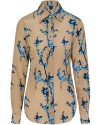 Sophie Cameron Davies - Cherry Blossom Silk Shirt - Lyst