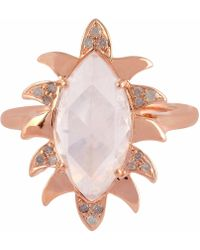 Meghna Jewels - Claw Marquise Ring Moonstone & Diamonds - Lyst
