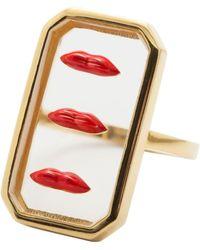 Eshvi - Clear Lips Ring - Lyst
