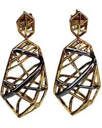 Bellus Domina - Gold & Rhodium Platina Stud Earrings - Lyst