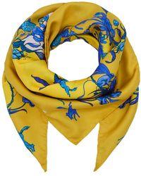 Klements - Medium Scarf In Kangaroo Yellow Print - Lyst