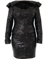 LEFON New York - Black Sequin Dress From Lefon - Lyst