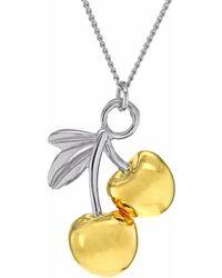 True Rocks - Cherries Two Tone Necklace - Lyst