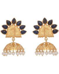 Carousel Jewels - Lapis Peacock Chandelier Earrings - Lyst