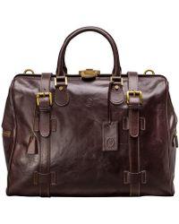Maxwell Scott Bags - Medium Brown Leather Gladstone Travel Bag Gassano - Lyst