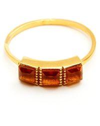GFG Jewellery by Nilufer - Lara Citrine Triplet Ring - Lyst