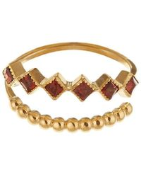 GFG Jewellery by Nilufer - Lara Double Row Trio Ring - Lyst