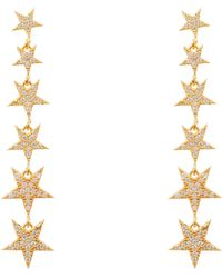 LÁTELITA London - Graduated Star Drop Earring Gold - Lyst
