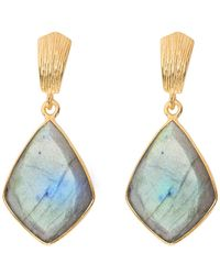 Juvi Designs - Glamour Puss Earrings With Labradorite - Lyst