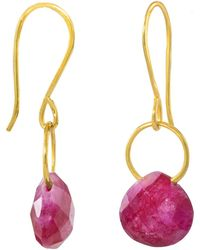 Juvi Designs - Boho Tiny Dancer Earrings With Ruby - Lyst