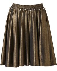 Supersweet x Moumi - Space Gold Bop Skirt - Lyst