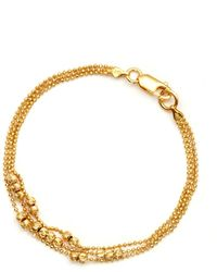 GFG Jewellery by Nilufer - Ellie 3 Layer Bracelet Gold Vibrance - Lyst