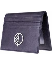 Drew Lennox - Real British Leather Id Card Holder In Charcoal Black - Lyst