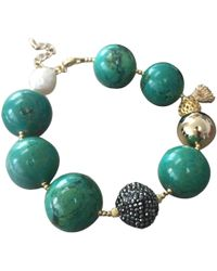 Farra - Nugget Bamboo Turquoise Bracelet - Lyst