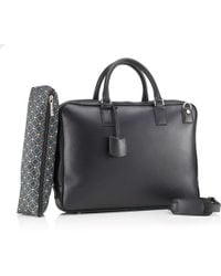 Mark Giusti - Milano Nappa Leather Laptop Bag Black - Lyst