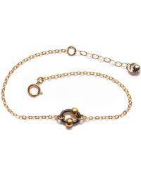 Amundsen Jewellery - Black Ring Bracelet - Lyst