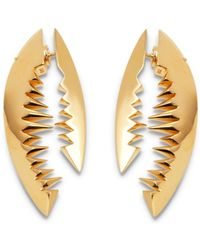 Kasun - Shark Bite Gold Earrings - Lyst