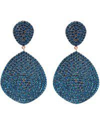 LÁTELITA London - Monte Carlo Earring Rosegold Sapphire Zircon - Lyst