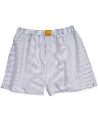 KLOTERS MILANO - Grey Striped Boxer Shorts - Lyst