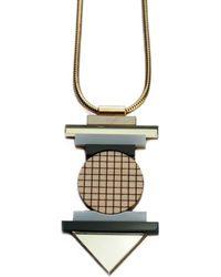 Nylon Sky - Totem Necklace Gold - Lyst