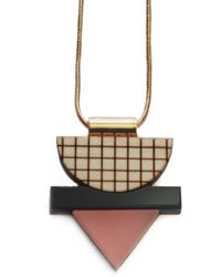 Nylon Sky - Mini Grid Necklace Frosted Pink - Lyst