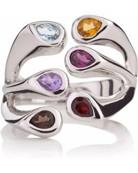 Manja | Multi Coloured Embrace Ring | Lyst