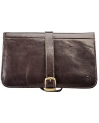 Maxwell Scott Bags | Luxury Italian Leather Men's Hanging Toiletry Bag Pratello Chocolate Brown | Lyst