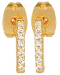 Carousel Jewels - Mini Gold Studs With Crystals - Lyst