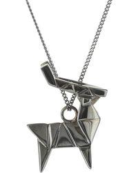 Origami Jewellery | Deer Necklace Gun Metal | Lyst