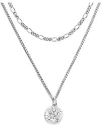 Serge Denimes - Silver St Christopher Multi Chain Necklace - Lyst