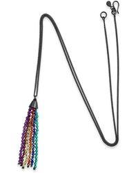 Vicky Davies Jewellery - Rainbow Tassel Pendant Oxidised Silver - Lyst