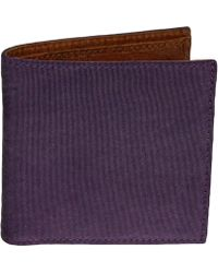 40 Colori - Purple Solid Washed Mogador & Leather Wallet - Lyst