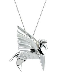 Origami Jewellery - Pegazus Necklace Silver - Lyst
