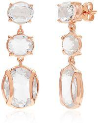 Alexandra Alberta - Lexington Rock Crystal Quartz Earrings - Lyst