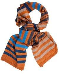40 Colori - Black Beige Brick Multi Striped Wool Scarf - Lyst