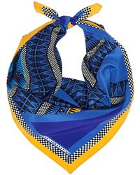 Sarah & Sorrentino - Market Scarf Blue - Lyst