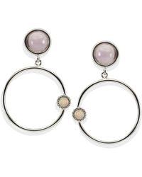 Vintouch Italy - Satellite Kunzite Hoop Earrings - Lyst