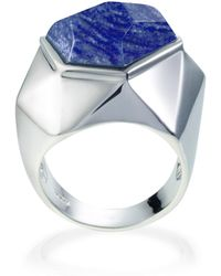 Ona Chan Jewelry - Lattice Cocktail Ring Blue Quartz - Lyst