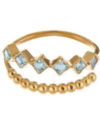 GFG Jewellery by Nilufer - Lara Double Row Blue Topaz - Lyst