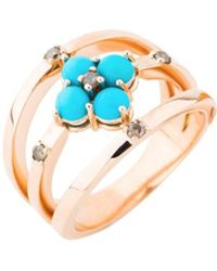 Joana Salazar - The Vintage Turquoise Triple Ring - Lyst