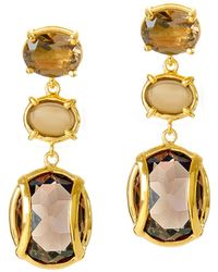 Alexandra Alberta - Lexington Smokey Quartz Earrings - Lyst