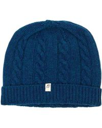40 Colori - Petrol Blue Small Braided Wool & Cashmere Beanie - Lyst