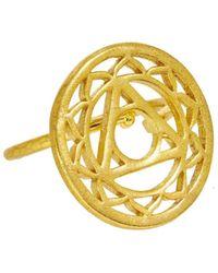 Ottoman Hands - Gold Solar Plexus Chakra Ring - Lyst