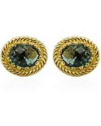 Vintouch Italy - Luccichio Green Agate Stud Earrings - Lyst