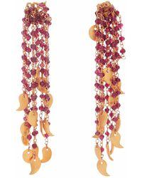 Carousel Jewels - Garnet Waterfall Earrings - Lyst
